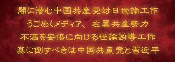真に倒すべきは中国共産党と習近平!
