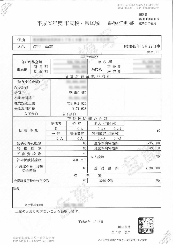 証明 と 所得 書 証明 書 課税